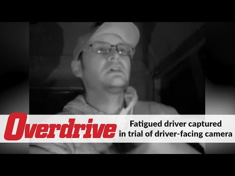 Fatigued driver captured in trial of driver-facing camera