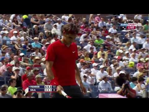 Roger Federer 49 seconds' service game