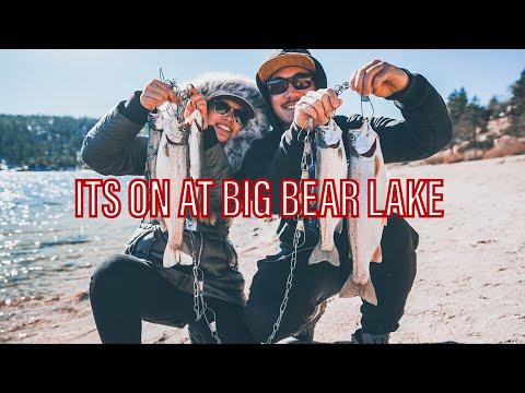 Big Bear Lake Fishing In December! Fish Report!