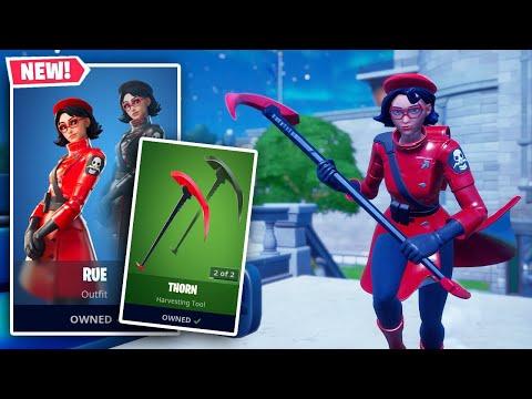 NEW RUE Skin + THORN Pickaxe Gameplay In Fortnite!