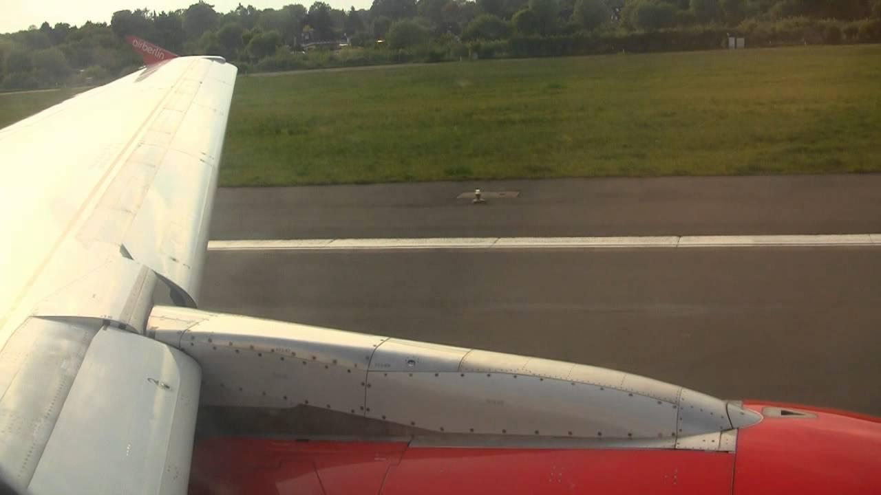 Airberlin Flug Von Hamburg Nach Stuttgart Airbus A319 Takeoff