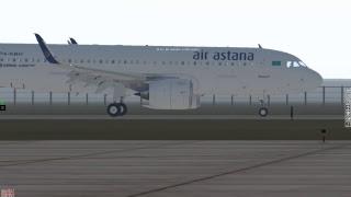 X-Plane 11 / A320 Air Astana NEO JARDesign / Полет  Уральск (UARR) - Актюбе (UATT)