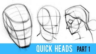Quickly Draw Heads with the Loomis Method - Part 1