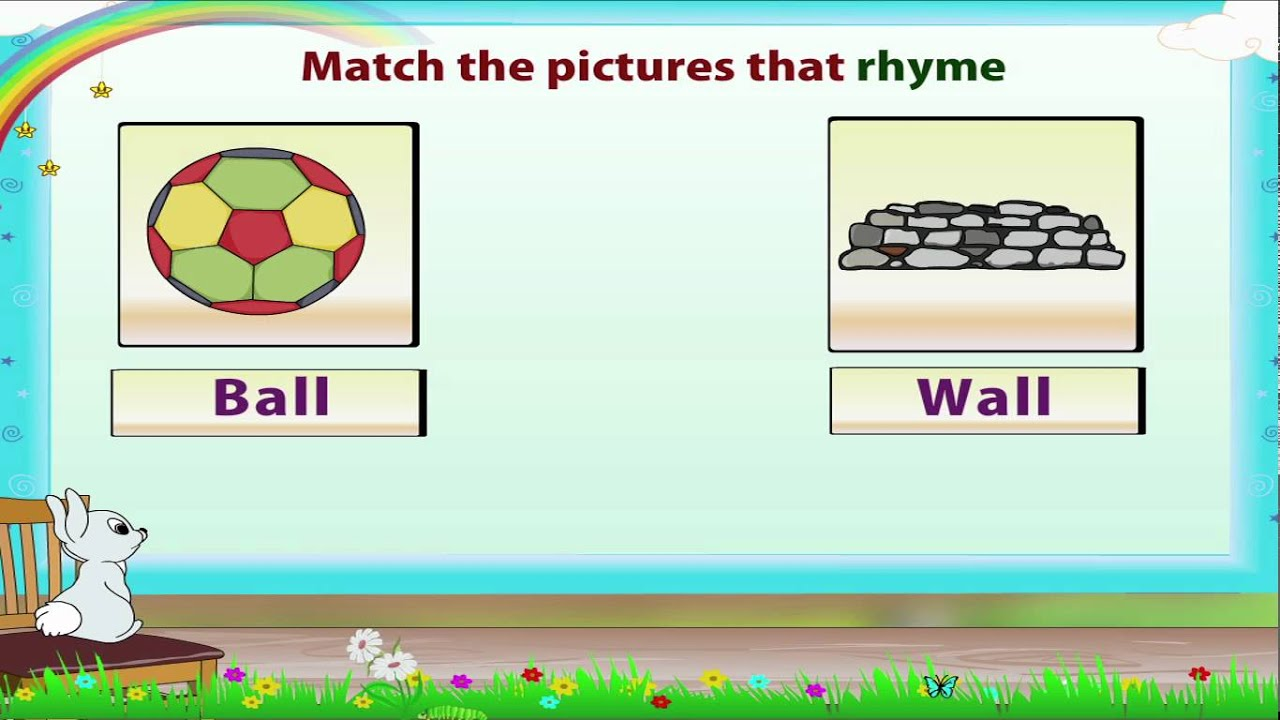 Worksheets 5 Rhyming Words learn grade 3 english grammar rhyming words youtube