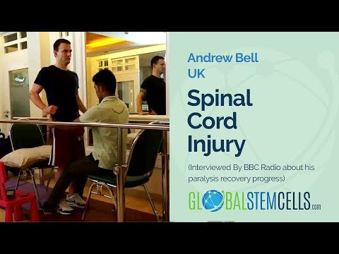 Andrew Bell is interviewed By BBC Radio about his paralysis recovery progress