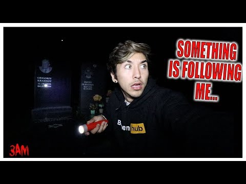 Exploring Haunted GRAVEYARD at 3AM... ALONE (DO NOT TRY THIS)