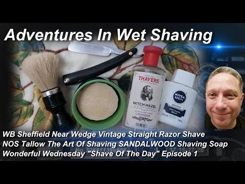 WB Vintage Straight Razor Shave, Shave Of The Day, The Art Of Shaving, Wonderful Wednesday #SOTD Ep1