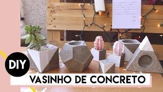 DIY: Vasinho de Concreto | by Aline Albino