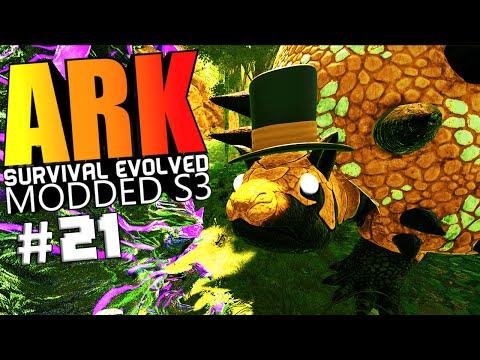 ARK Survival Evolved - DRAGON GOD VS WARDEN, KITCHEN, RESOURCE CROPS Modded #21 (ARK Mods Gameplay)