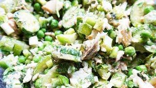 Рецепт! Летний салат с рыбой и овощами  | #102