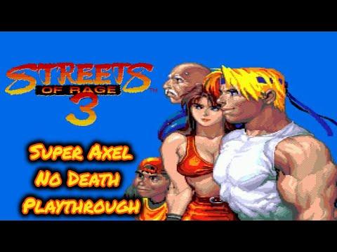 Streets of Rage 3 GEN | Super Axel No Death Playthrough + Good ending