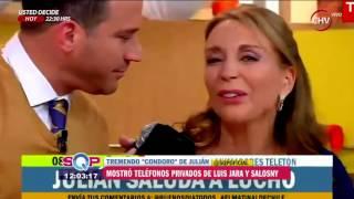 Julián Elfenbein filtró en pantalla número de teléfono de Luis Jara
