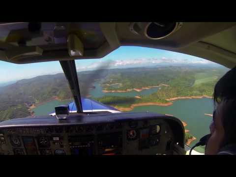 Scenic cockpit view of Cessna 208 Amphibian Caravan