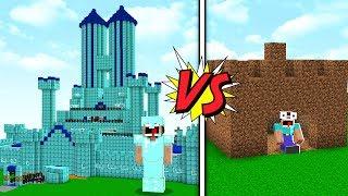 CONSTRUÇÃO de NOOB!! vs. CONSTRUÇÃO de PRO!! (MINECRAFT)