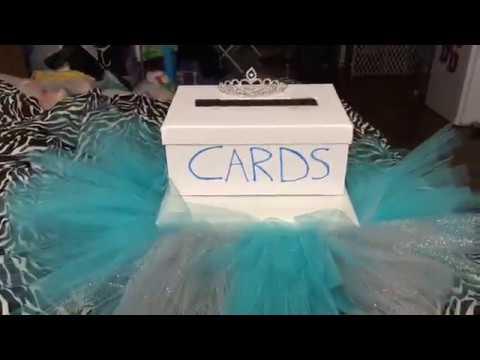 Diy Card Box Wedding Sweet 16 Quinceanera