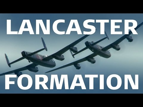Beautiful Lancaster Formation at Eastbourne 2014 #2LancUK