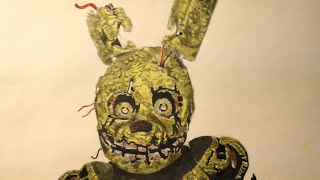 How To Draw Spring Trap from fnaf 3