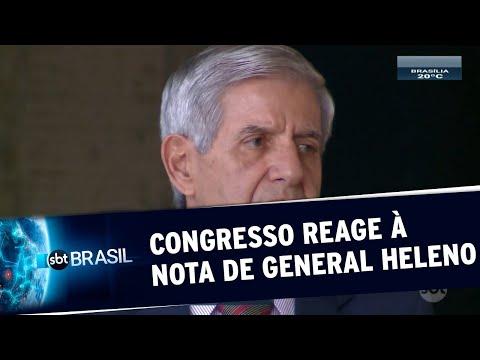 Nota De General Augusto Heleno Repercute No Congresso | SBT Brasil (22/05/20)