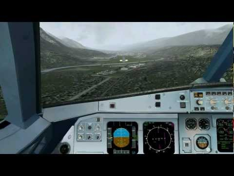 Innsbruck Airport (LOWI) - LOC DME East Approach Tutorial