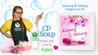 Soap Testing Kissing & Telling Fragrance Oil- Natures Garden