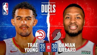 Trae Young (35 PTS) And Damian Lillard (30 PTS) DUEL In Thriller!