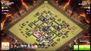 Clash of CLans 3 star Stoned GoHo Hash Tag Base 4 quakes Max TH9