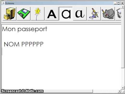 logiciel ecrivons