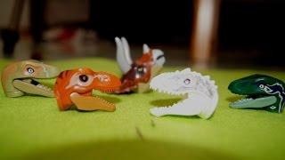 ЛЕГО БЕЗ ГОЛОВЫ. ГОВОРЯЩИЕ ГОЛОВЫ. Мультик про динозавров. Для детей. Игрушки