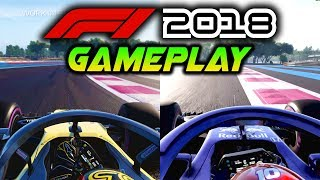 F1 2018 GAMEPLAY: First Look at French GP Paul Ricard! Toro Rosso, Renault & Haas Onboard Gameplay!