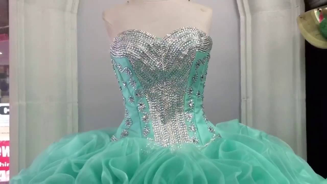 Custom Made Mint Green Gown - YouTube