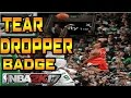 TEAR DROPPER TUTORIAL   NBA 2K17   HOW TO GET TEAR DROPPER BADGE !   EASIEST BADGE !! ;'( DROP
