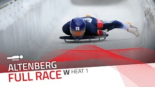 Altenberg | BMW IBSF World Cup 2016/2017 - Women's Skeleton Heat 1 | IBSF Official