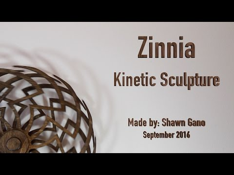 Zinnia - Wooden Kinetic Sculpture
