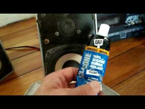 Cracked Woofer Cone Speaker 🕪 Silicone Rubber Repair Youtube