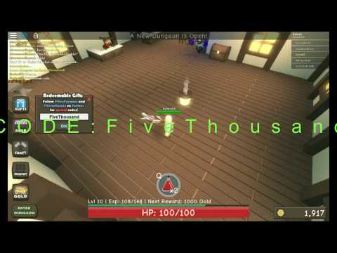 New Code 3 Dungeon Simulator Get Coins And Item Youtube