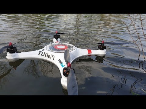 Amphibious drone designed to warn of wonky water