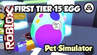 Roblox | Pet Simulator - First Tier 15 Egg Opening!