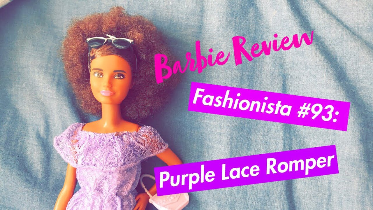 1adb0d647bf Barbie Fashionista  93  Purple Lace Romper - Unboxing and Review. Dales  Dolls