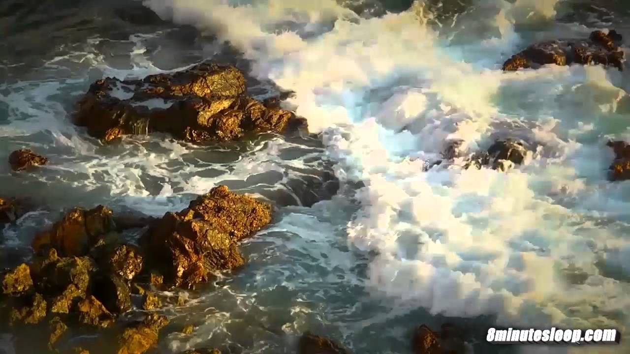 ocean waves crashing on rocks white noise to help you relax study