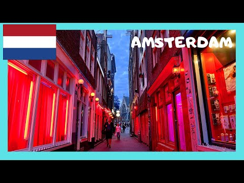 AMSTERDAM: The famous RED LIGHT DISTRICT (THE NETHERLANDS/HOLLAND)