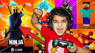SURPRISING MY 5 YEAR OLD LITTLE BROTHER WITH FAKE FORTNITE SKINS! FAUSSE PEAU DE NINJA À FORTNITE