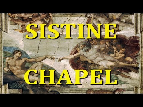 THE SISTINE CHAPEL - MASTERPIECE PAINTINGS BY MICHELANGELO - VATICAN CITY - ROME