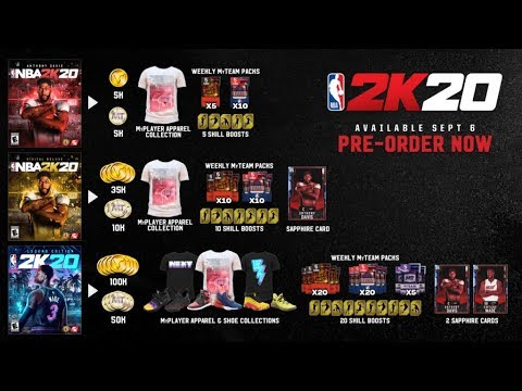 NBA 2K20 REWARDS FOR DIFFERENT VERSIONS DIFFERENT NBA 2K20 EDITIONS LEGEND EDITION NBA 2K20 DELUXE!