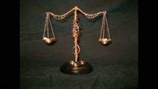 Libra Scales Zodiac Wire Sculpture