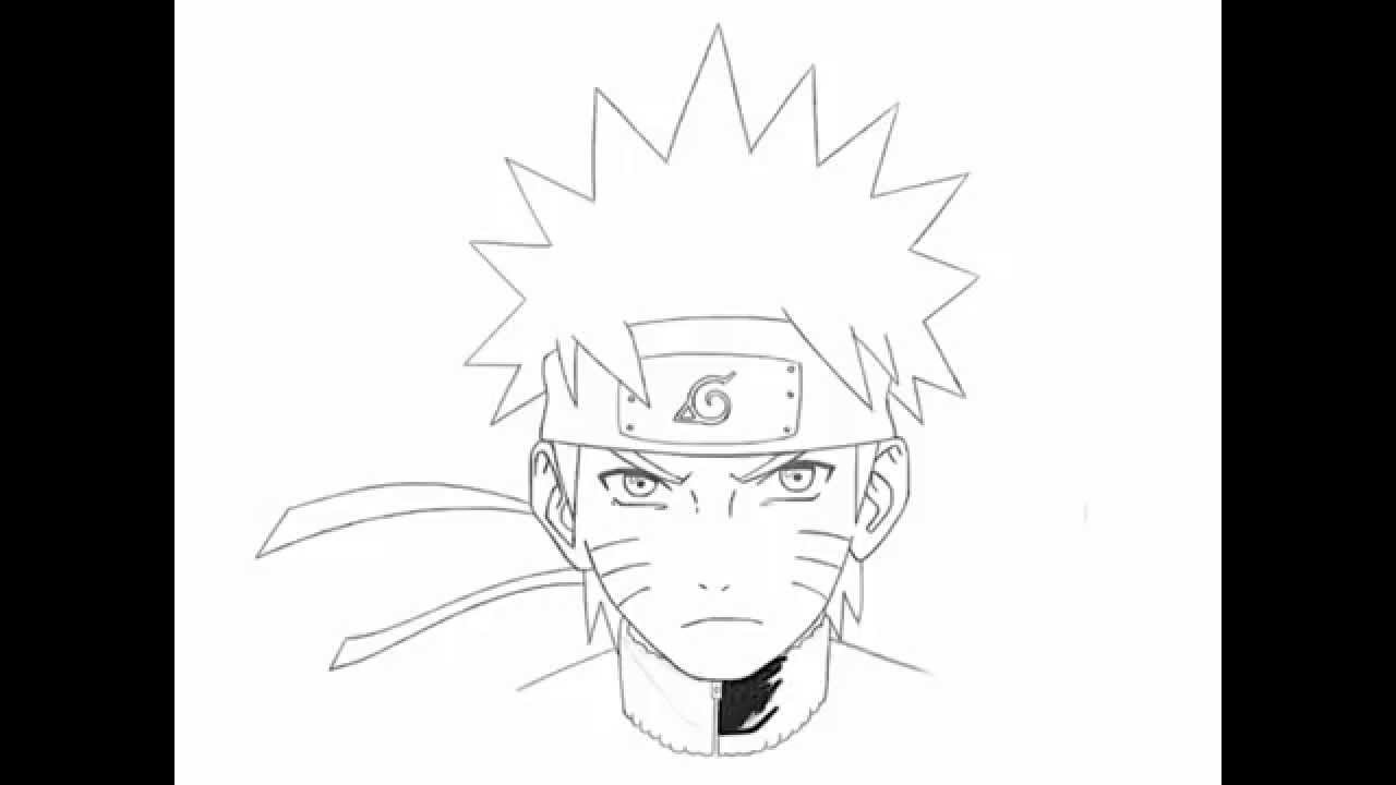 How to draw naruto uzumaki step by step