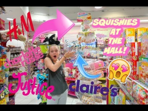 SQUISHIES AT THE MALL!!!   SHOPPING AT CLAIRE'S, JUSTICE AND MORE!!   VLOG