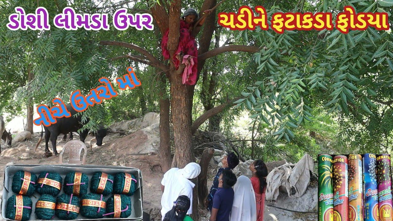 ડોશી લીમડા ઉપર ચડીને ફટાકડા ફોડયા | comedy Gam wale | gujarati comedy