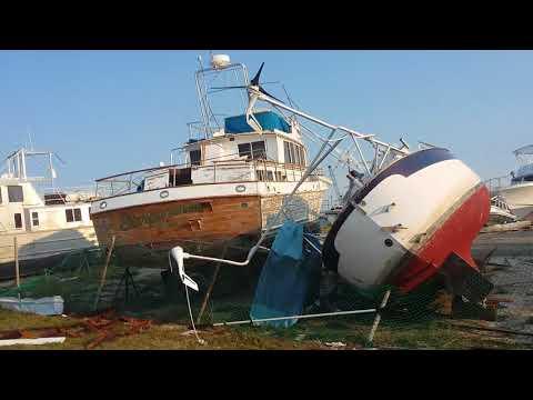 Hurricane Harvey Destruction Rockport Texas  Cove Harbor Marina & Drystack Boat Storage