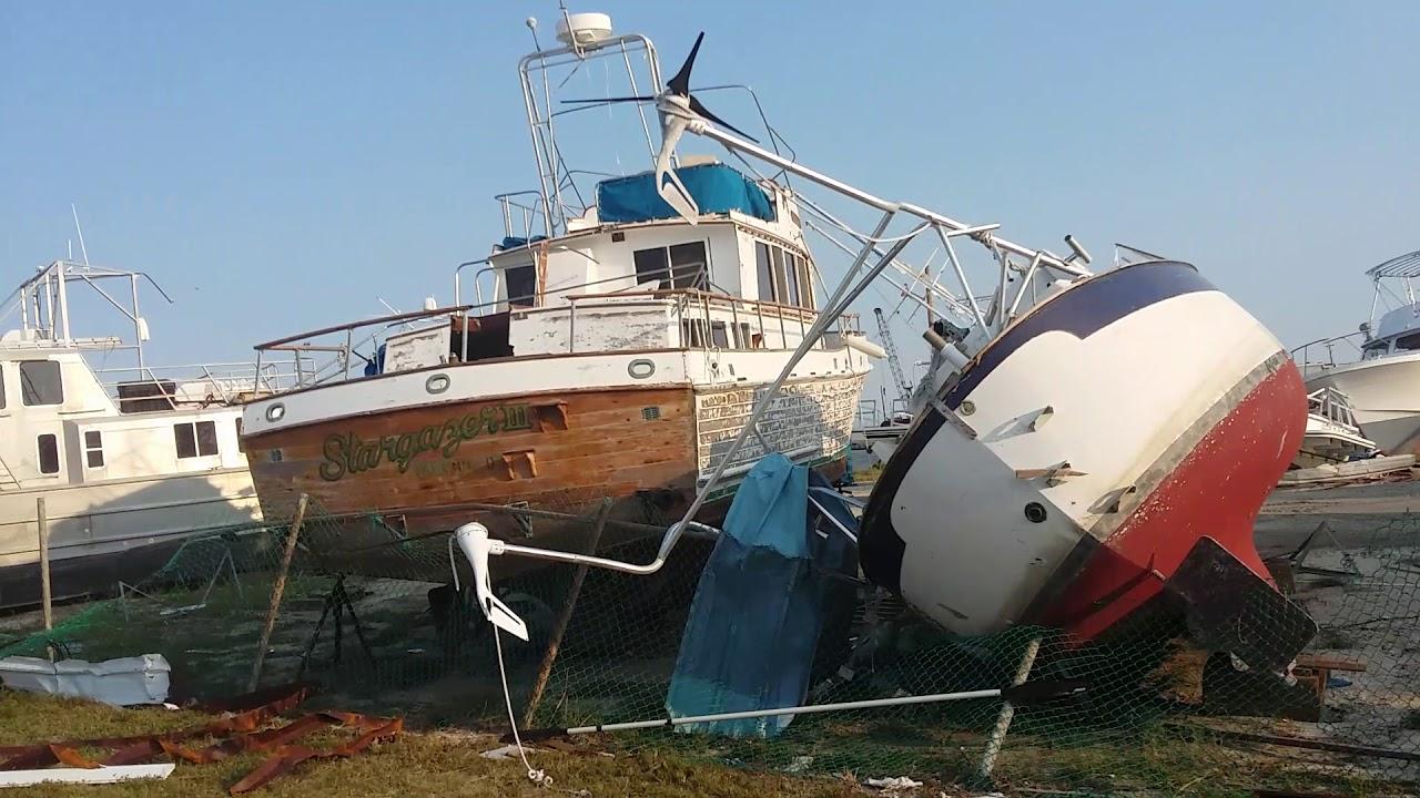 Hurricane Harvey Destruction Rockport Texas Cove Harbor