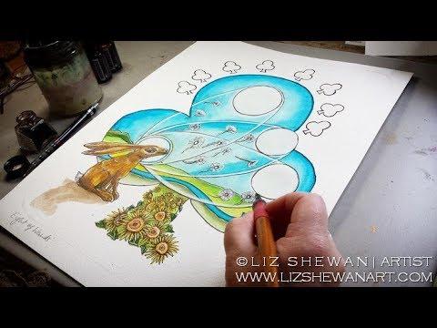 Eight of Wands Tarot Meaning | Artist Working in the Studio Liz Shewan